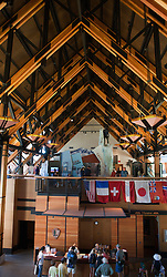 Interior of Henry M. Jackson Memorial Visitors Center, Paradise, Mt. Rainier National Park, Washington, United States of America