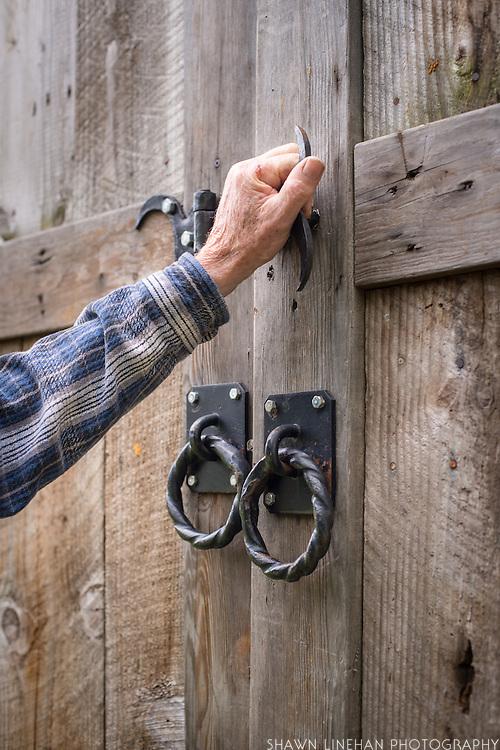 Hand forged door handles