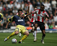 Photo: Lee Earle.<br /> Southampton v Derby County. Coca Cola Championship. Play Off Semi Final, 1st Leg. 12/05/2007.Derby's Jonathan Macken (L) battles with Jhon Viafara.