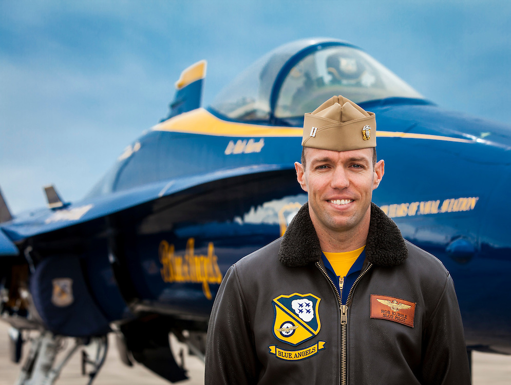 Captain Rob Kurrle, Blue Angels Pilot.  Created on a cold November day in the fall of 2011 at Pensacola Naval Air Station, Florida.  The following day was Captain Kurrle's last as a member of the Blue Angels.  Created by aviation photographer John Slemp of Aerographs Aviation Photography. Clients include Goodyear Aviation Tires, Phillips 66 Aviation Fuels, Smithsonian Air & Space magazine, and The Lindbergh Foundation.  Specialising in high end commercial aviation photography and the supply of aviation stock photography for commercial and marketing use.