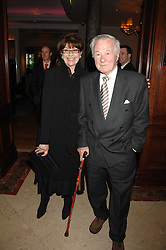 Actress NANETTE NEWMAN and her husband BRYAN FORBES at a party to celebrate the 180th Anniversary of The Spectator magazine, held at the Hyatt Regency London - The Churchill, 30 Portman Square, London on 7th May 2008.<br />