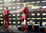 Garth Tander and Holden Racing Team mate Will Davison celebrate after the 1-2 finish at the Norton 360 Sandown Challenge held at the Sandown International Motor Raceway, Victoria on Sunday 2nd August. 2009 V8 Supercar Series Rounds 13 and 14. Photo © Clay Cross/PHOTOSPORT