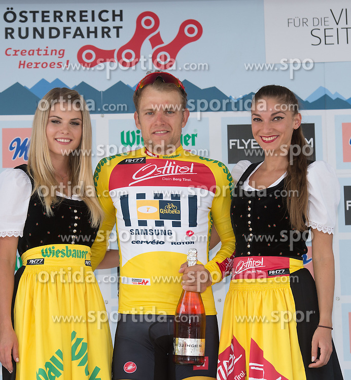 06.07.2015, Grieskirchen, AUT, Österreich Radrundfahrt, 2. Etappe, Litschau nach Grieskirchen, im Bild Gerald Ciolek (GER, 1.Platz Gesamt) gelbes Trikot // 1st placed general Gerald Ciolek of Germany during the Tour of Austria, 2nd Stage, from Litschau to Grieskirchens, Grieskirchen, Austria on 2015/07/06. EXPA Pictures © 2015, PhotoCredit: EXPA/ Reinhard Eisenbauer