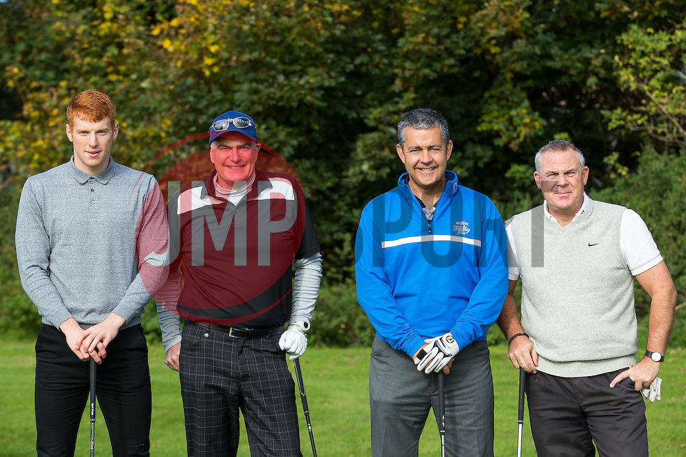 Rory Gaffney of Bristol Rovers joins team Pensord Press as they take part in the annual Bristol Rovers Golf Day - Rogan Thomson/JMP - 10/10/2016 - GOLF - Farrington Park - Bristol, England - Bristol Rovers Golf Day.