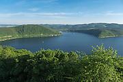 Blick auf Edersee, Nordhessen, Hessen, Deutschland   view of Lake Eder, Hesse, Germany