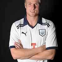 Neil Mellor poses in the New Preston North End football kit as part of their launch at Deepdale in Preston