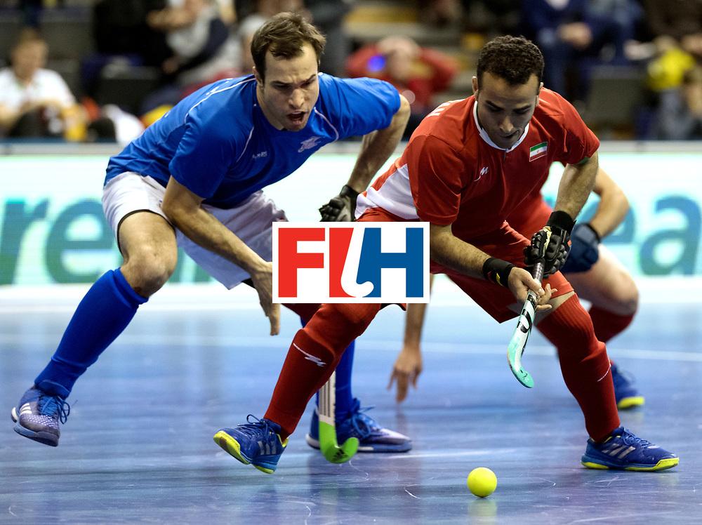 BERLIN - Indoor Hockey World Cup<br /> Quarterfinal 1: Iran - Czech Republic<br /> foto: NOORANIAN Hamid.<br /> WORLDSPORTPICS COPYRIGHT FRANK UIJLENBROEK