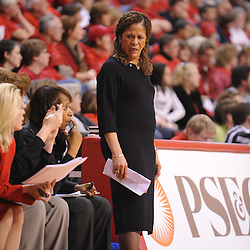 Jan 31, 2009; Piscataway, NJ, USA; Rutgers head coach C. Vivian Stringer during the second half of South Florida's 59-56 victory over Rutgers in NCAA women's college basketball at the Louis Brown Athletic Center