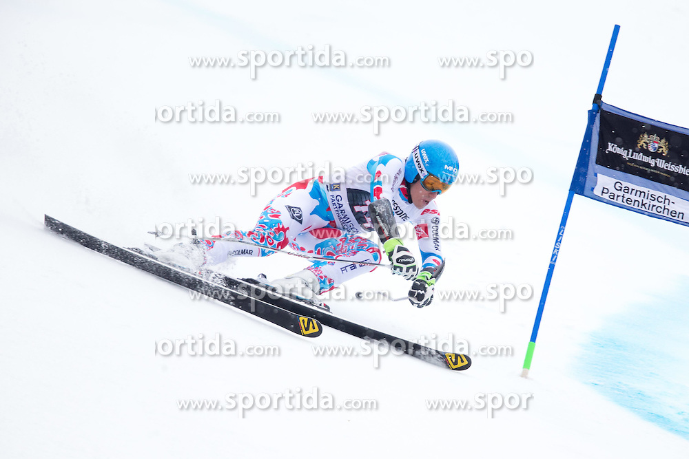 01.03.2015, Kandahar, Garmisch Partenkirchen, GER, FIS Weltcup Ski Alpin, Riesenslalom, Herren, 1. Lauf, im Bild Victor Muffat-Jeandet (FRA) // Victor Muffat-Jeandet of France in action during 1st run for the men's Giant Slalom of the FIS Ski Alpine World Cup at the Kandahar course, Garmisch Partenkirchen, Germany on 2015/03/01. EXPA Pictures © 2015, PhotoCredit: EXPA/ Johann Groder