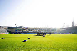 The Bath Rugby team huddle together prior to the match - Mandatory byline: Patrick Khachfe/JMP - 07966 386802 - 17/11/2018 - RUGBY UNION - The Recreation Ground - London, England - Bath Rugby v Worcester Warriors - Gallagher Premiership Rugby