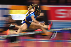 March 2, 2018 - Birmingham, England, United Kingdom - Christina Manning of United States at 60 meter hurdles at World indoor Athletics Championship 2018, Birmingham, England on March 2, 2018. (Credit Image: © Ulrik Pedersen/NurPhoto via ZUMA Press)