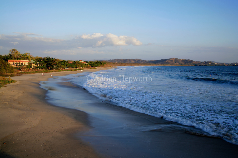 Tourists on Playa Grande beach, Las Baulas National Park, Guanacaste, Costa Rica.<br />