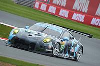 Richard Lietz (AUT) / Michael Christensen (DNK) #77 Dempsey Proton Racing Porsche 911 RSR, WEC 6 Hours of Silverstone 2016 at Silverstone, Towcester, Northamptonshire, United Kingdom. April 15 2016. World Copyright Peter Taylor.