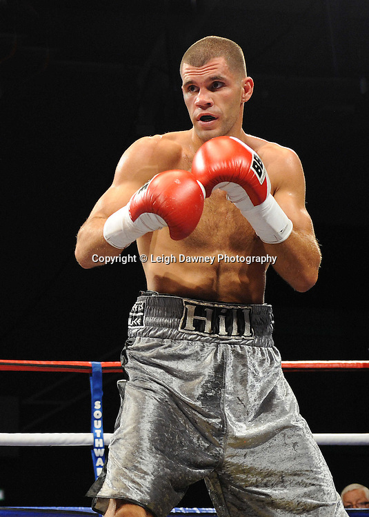 Tony Hill defeats Paul Samuels at Medway Park, Gillingham, Kent, UK on 13th May 2011. Frank Maloney Promotions. Photo credit © Leigh Dawney 2011.