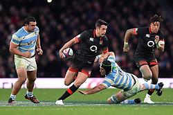 Alex Lozowski of England takes on the Argentina defence - Mandatory byline: Patrick Khachfe/JMP - 07966 386802 - 11/11/2017 - RUGBY UNION - Twickenham Stadium - London, England - England v Argentina - Old Mutual Wealth Series International