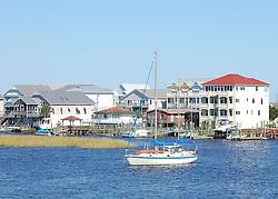 Sailboat on the Intracoastal, Carolina Beach, North CArolina