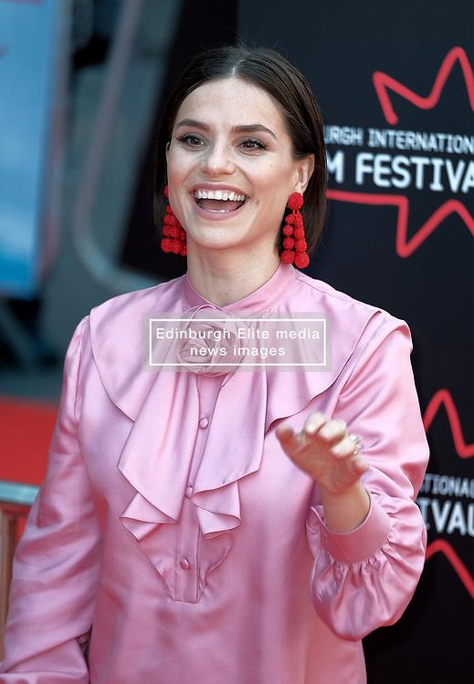 Edinburgh Film Festival, Sunday 1st July 2018<br /> <br /> SWIMMING WITH MEN (UK Premiere - Closing Night Gala)<br /> <br /> Pictured:  Charlotte Riley<br /> <br /> Alex Todd   Edinburgh Elite media