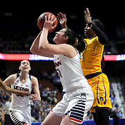 Natalie Butler, UConn, shoots during the UConn Huskies Vs East Carolina Pirates Quarter Final match at the  2016 American Athletic Conference Championships. Mohegan Sun Arena, Uncasville, Connecticut, USA. 5th March 2016. Photo Tim Clayton