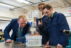 &copy; Licensed to London News Pictures.  16/05/2017; Bath, UK. General Election 2017; TIM FARRON, leader of the Liberal Democrats, campaigns at Bath College.<br /> Picture credit : Simon Chapman/LNP