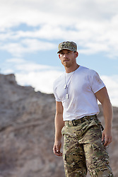All American Army man outdoors
