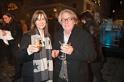 FRANK COHEN and CHERRYL COHEN at the launch of Skate at Somerset House in association with Fortnum & Mason held at Somerset House, The Strand, London on 17th November 2015.
