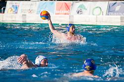 of AVK Triglav Kranj during water polo match between VKL Ljubljana Slovan and AVK Triglav Kranj in 3rd Round of Final of Slovenian Water polo National Championship, on June 16, 2018 in Kodeljevo, Ljubljana, Slovenia. Photo by Urban Urbanc / Sportida