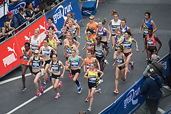 © Licensed to London News Pictures . 22/05/2016 . Manchester , UK . Start of women's race on Portland Street . The Great Manchester Run in Manchester City Centre . Photo credit : Joel Goodman/LNP