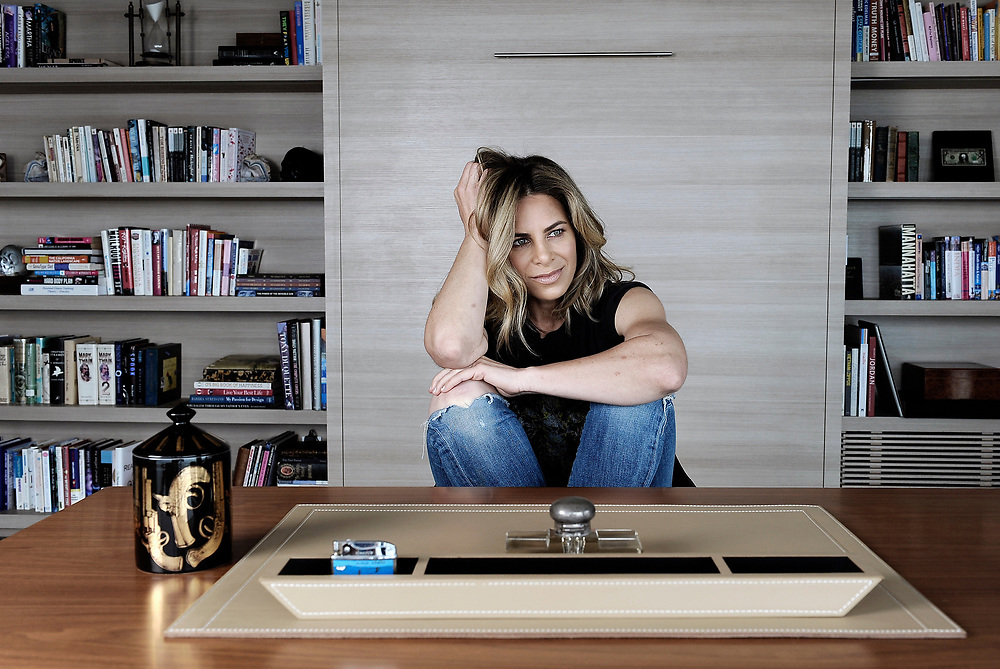 MALIBU, CA- April 6, 2017:  Jillian Michaels inside her favorite room in her Malibu home; her office.  (Mariah Tauger /  For The Times)