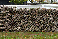 Examples of Stone Wall Construction can bee seen at Shaker village in Mercer County KY