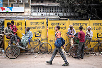 Street scene in Delhi, India.