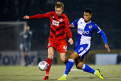 Josh Wright of Leyton Orient takes on Jonson Clarke-Harris of Bristol Rovers - Mandatory by-line: Robbie Stephenson/JMP - 04/12/2019 - FOOTBALL - Memorial Stadium - Bristol, England - Bristol Rovers v Leyton Orient - Leasing.com Trophy