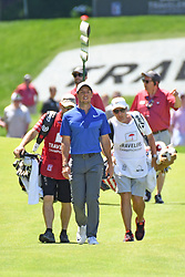 June 25, 2017 - Cromwell, Connecticut, U.S - Rory McIlroy approaches the 15th green during the final round of the Travelers Championship at TPC River Highlands in Cromwell, Connecticut. (Credit Image: © Brian Ciancio via ZUMA Wire)