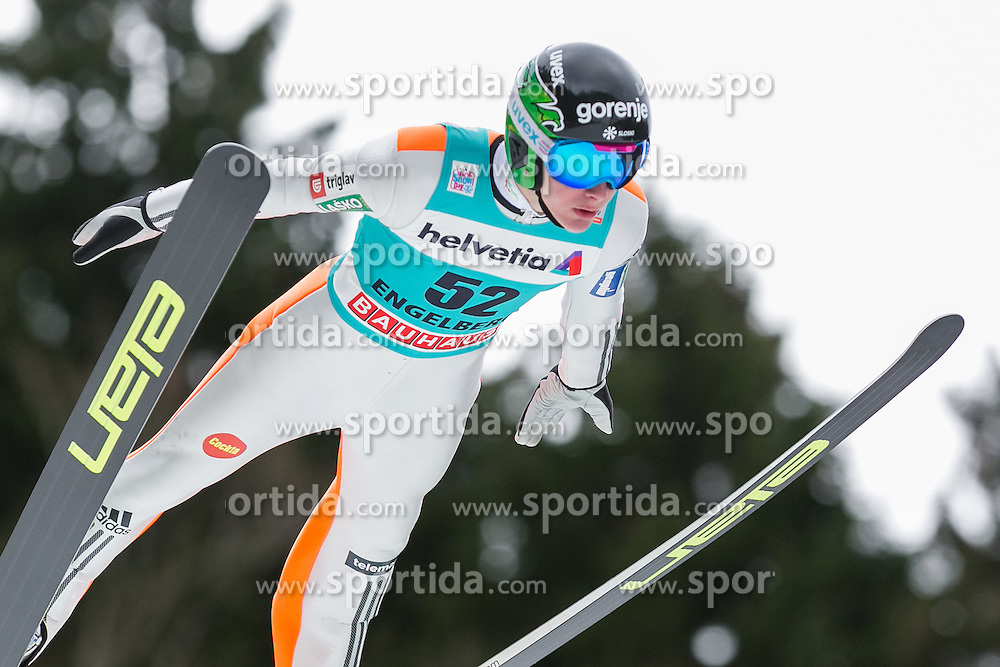 18.12.2015, Gross Titlis Schanze, Engelberg, SUI, FIS Weltcup Ski Sprung, Engelberg, im Bild Domen Prevc, Slowenien // during mens FIS Ski Jumping World Cup at the Gross Titlis Schanze in Engelberg, Switzerland on 2015/12/18. EXPA Pictures &copy; 2015, PhotoCredit: EXPA/ Eibner-Pressefoto/ Socher<br /> <br /> *****ATTENTION - OUT of GER*****
