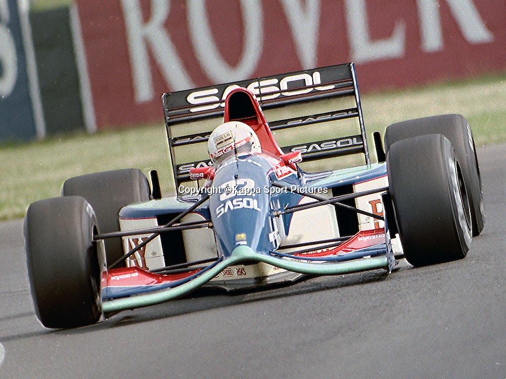 Stefano Modena, Jordan Yamah,  British Formula One Grand Prix, Silverstone, July 1990British Formula One, Practice Grand Prix, Sllverstone, 12th July 1992