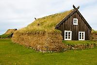 Islande. Reykjavik. Musée des maisons traditionnelles Arbaejarsafn. // Iceland. Traditional houses museum. Arbaejarsafn museum.