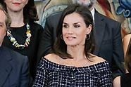 071619 Queen letizia attends Royal audiences at Zarzuela Palace