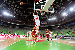 Vladimir Dasic of Montenegro at friendly match between Macedonia and Montenegro for Adecco Cup 2011 as part of exhibition games before European Championship Lithuania on August 9, 2011, in SRC Stozice, Ljubljana, Slovenia. (Photo by Urban Urbanc / Sportida)