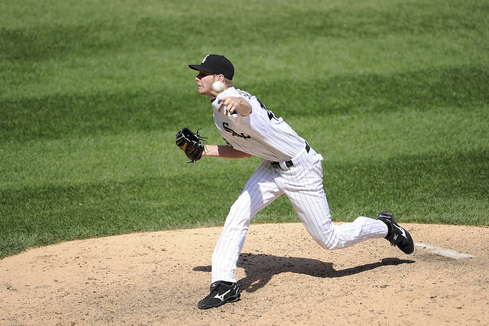 CHICAGO, IL - JUNE 26:  Chris Sale #49 of the Chicago White Sox pitches against the Washington Nationals on June 26, 2011 at U.S. Cellular Field in Chicago, Illinois.  The Nationals defeated the White Sox 2-1.  (Photo by Ron Vesely/MLB Photos via Getty Images)  *** Local Caption *** Chris Sale