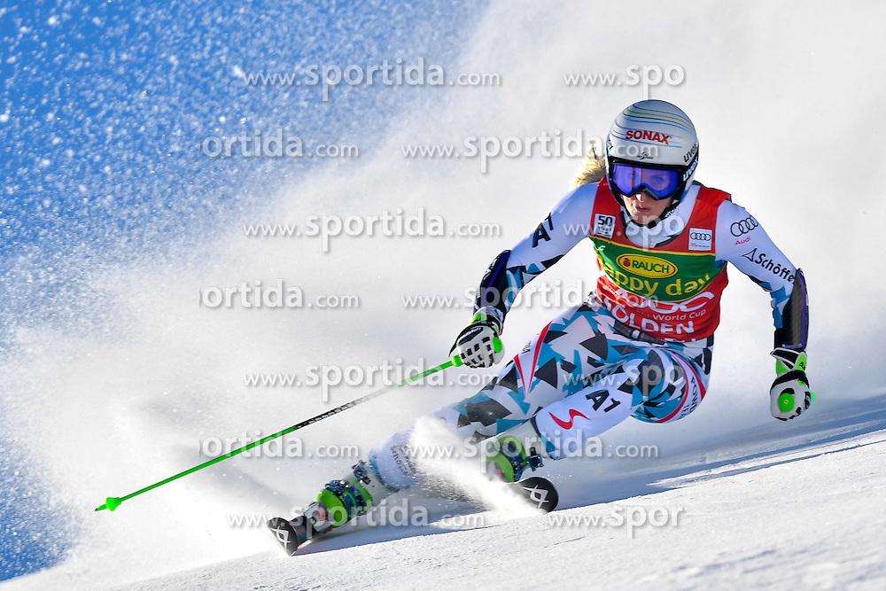 22.10.2016, Rettenbachferner, Soelden, AUT, FIS Weltcup Ski Alpin, Soelden, Riesenslalom, Damen, 1. Durchgang, im Bild Eva-Maria Brem (AUT) // Eva-Maria Brem of Austria in action during 1st run of ladies Giant Slalom of the FIS Ski Alpine Worldcup opening at the Rettenbachferner in Soelden, Austria on 2016/10/22. EXPA Pictures &copy; 2016, PhotoCredit: EXPA/ Nisse Schmid<br /> <br /> *****ATTENTION - OUT of SWE*****