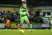 Forest Green Rovers Lee Collins(5) on the ball during the EFL Sky Bet League 2 match between Forest Green Rovers and Port Vale at the New Lawn, Forest Green, United Kingdom on 6 January 2018. Photo by Shane Healey.