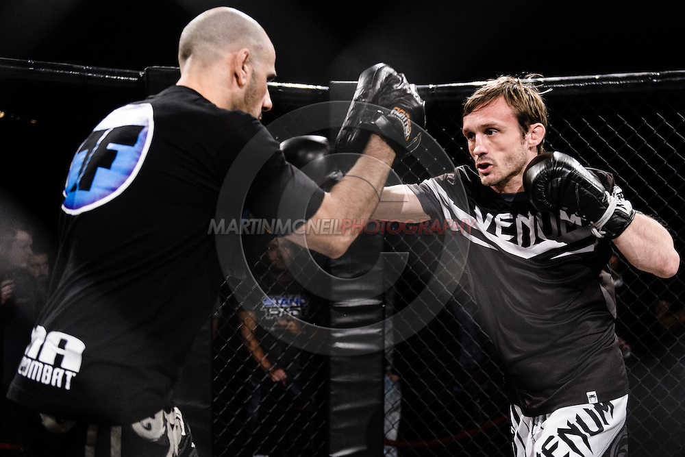 """LONDON, ENGLAND, MARCH 5, 2014: Brad Pickett is pictured at the media open work-out sessions for """"UFC Fight Night: Gustafsson vs. Manuwa"""" inside One Embankment in London, England (Martin McNeil for ESPN)"""