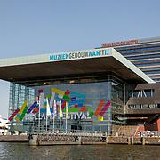 NLD/Amsterdam/20180628 - Rondvaart Amsterdam, Muziekgebouw aan het IJ