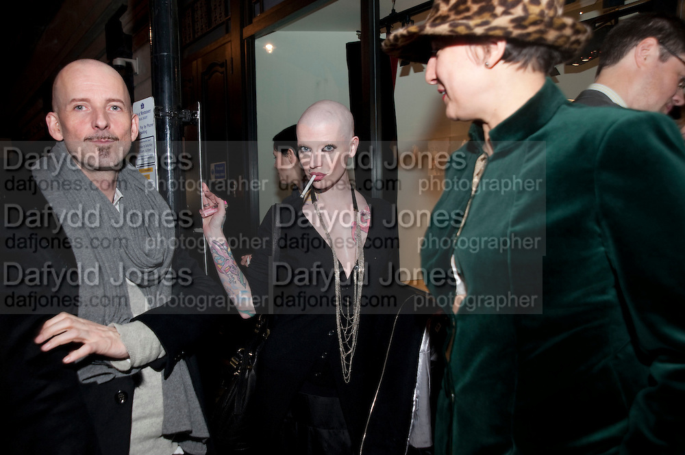 PHILIP STEPHENS; POLLY FEY; SELINA BLOW, LANVIN PARTY. Savile Row. London. 11 November 2009.