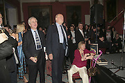 HUGO VICKERS, CLAUS VON BULOW AND SUSAN CROSLAND, Literary Review's Bad Sex In Fiction Prize.  In & Out Club (The Naval & Military Club), 4 St James's Square, London, SW1, 29 November 2006. <br />