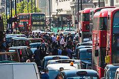 2015-04-21 London cabbies protest against TFL and unlicenced minicab operators