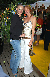 Left to right, Models JODIE KIDD and OLIVIA INGE at Michele Watches Kaleidoscope Summer Garden Party held at Home House, Portman Square, London on 15th June 2005.<br /><br />NON EXCLUSIVE - WORLD RIGHTS