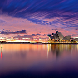 A perfect Sunrise over Sydney Opera House.