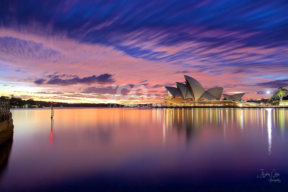 A perfect Sunrise over Sydney Opera House.