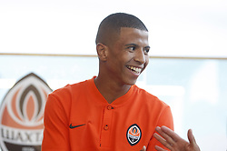 July 17, 2018 - Kiev, Ukraine - New Shakhtar Donetsk player Marquinhos Cipriano attends an official presentation in Kiev, Ukraine, 17 July, 2018. (Credit Image: © Str/NurPhoto via ZUMA Press)