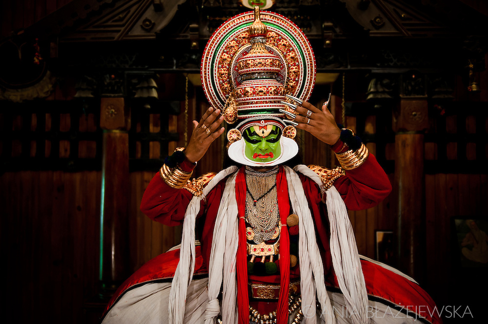 "Kathakali  (the word ""kathakali"" literally means ""Story-Play"") is one of the oldest theatre forms in the world, characteristic for  the south Indian state of Kerala. It has a long tradition dating back to the 17th century.  <br />